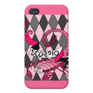 Pink Scorpio iPhone 4 case