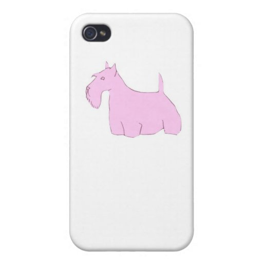 Pink Scottish Terrier iphone Hard Case iPhone 4/4S Cases