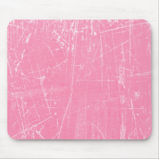 Pink Scratched Aged and Worn Texture Mouse Pad