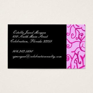 Pink Scrolls Business Card