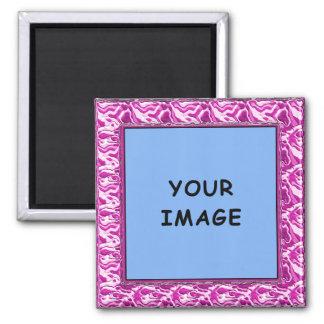 Pink Sculpted Photo Frame Magnet