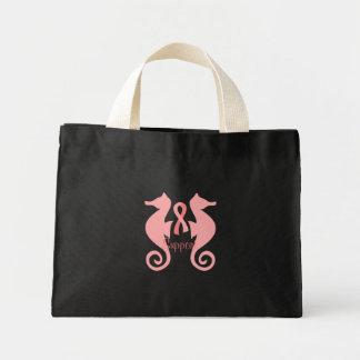 Pink Sea Horses Mini Tote Bag