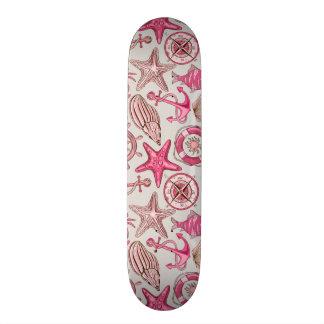 Pink Sea Pattern Skate Deck
