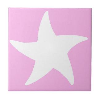 Pink Sea Star Tile