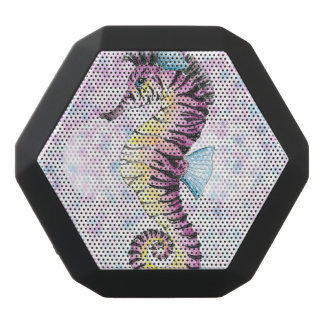pink seahorse black bluetooth speaker