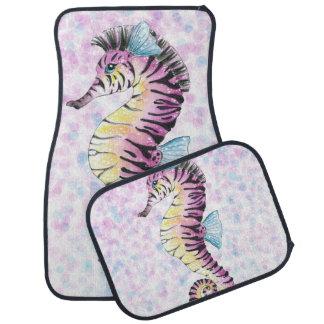 pink seahorse car mat
