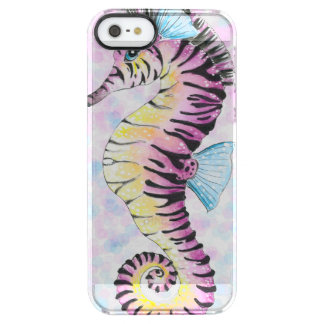 pink seahorse clear iPhone SE/5/5s case