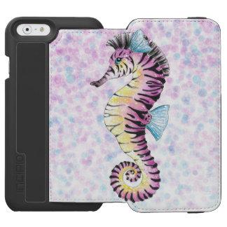 pink seahorse incipio watson™ iPhone 6 wallet case