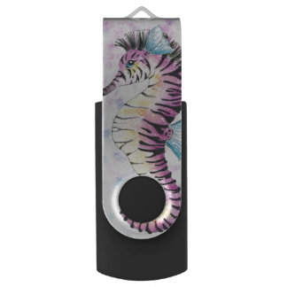 pink seahorse USB flash drive