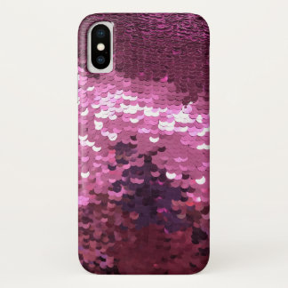 Pink Sequin iPhone X Case