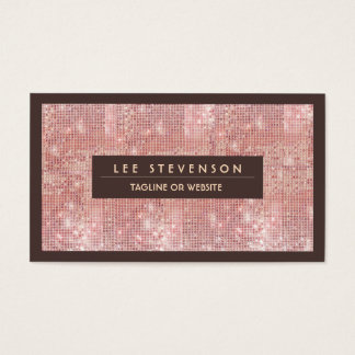 Pink Sequins Business Card