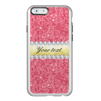 Pink Sequins Gold Foil and Diamonds Incipio Feather® Shine iPhone 6 Case