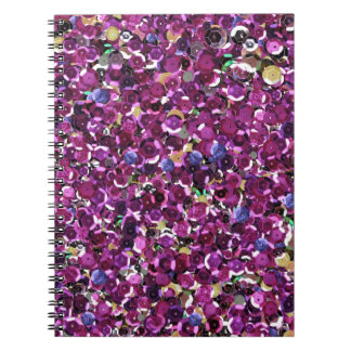 Pink Sequins Sparkle Glitter Spiral Note Books