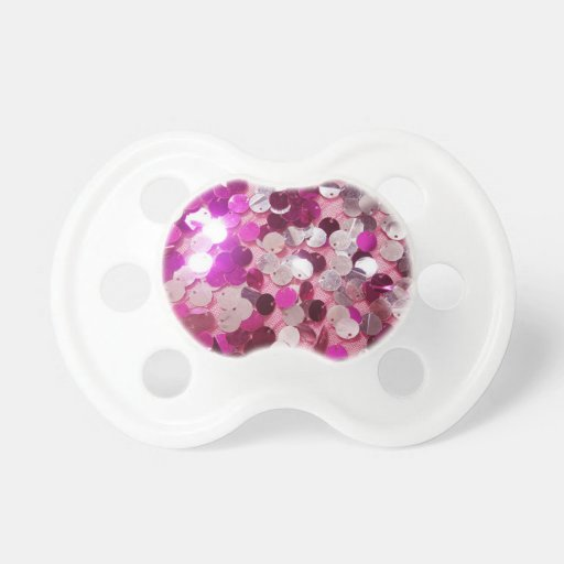 Pink Sequins Sparkles Fashion Customize w/ Text Pacifier