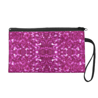 pink sequins wristlet purse bag