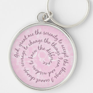 Pink Serenity Prayer Keychain - Customized