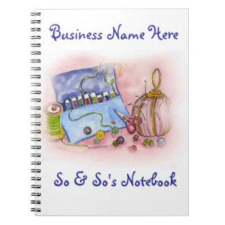 Pink Sewing Kit Notebook