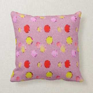 Pink Shabby Chic Dots Pillow