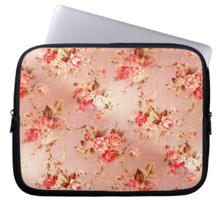 Pink Shabby Chic Flowers Electronics Sleeve