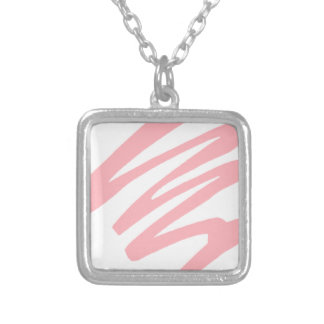 Pink Shade Silver Plated Necklace