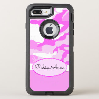 Pink Shades and White Camouflage Template OtterBox Defender iPhone 8 Plus/7 Plus Case