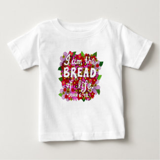 Pink Shades Flower Doodle Typography Bible Verse Baby T-Shirt