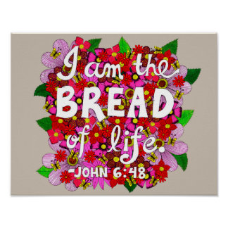 Pink Shades Flower Doodle Typography Bible Verse Poster