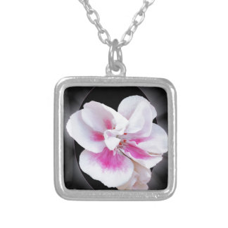 Pink Shades Silver Plated Necklace
