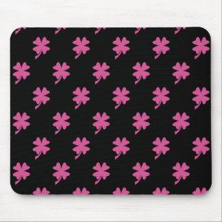 Pink Shamrock Mouse Pad