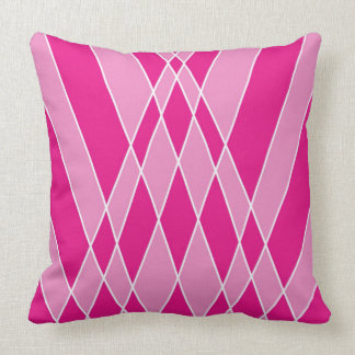 Pink Shapes Abstract Design Throw Pillow