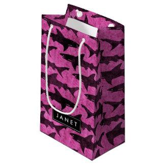 Pink Shark Bag with Name Label