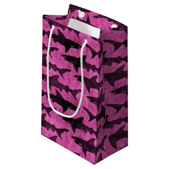 Pink Sharks Small Gift Bag