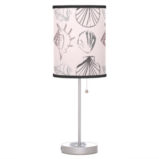 Pink Shell Pattern Table Lamp