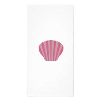 Pink Shell Personalized Photo Card