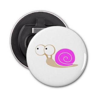 Pink Shelled snail Button Bottle Opener