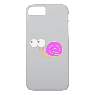 Pink Shelled snail iPhone 7 Case
