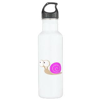 Pink Shelled snail 24oz Water Bottle