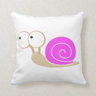 Pink Shelled snail Pillow
