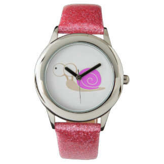 Pink Shelled snail Wristwatches