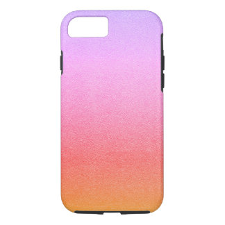 Pink Sherbet Glitter Sand Visual Texture Ombre iPhone 7 Case