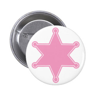 Pink Sheriff Badge - Design Your Own Button