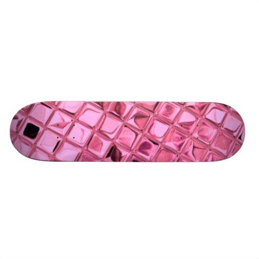 Pink Shiny Diamonds Sissy Girly Girl Skateboard