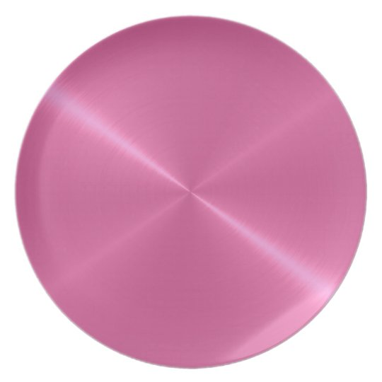 Pink Shiny Steel Metal Plate