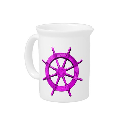 Pink Ships Wheel Pitchers