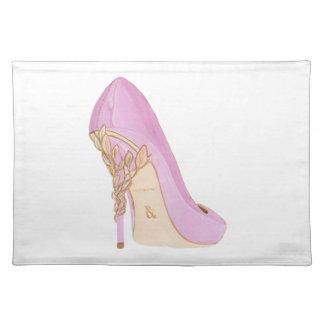 Pink Shoe Placemat