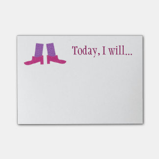 Pink Shoes Custom Sticky Notes
