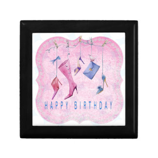Pink Shoes Happy Birthday Jewelry Box