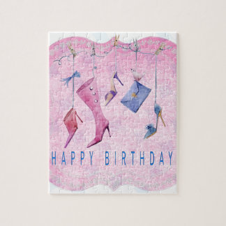 Pink Shoes Happy Birthday Jigsaw Puzzle