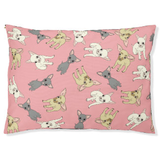 Pink Short Haired Chihuahua Bed