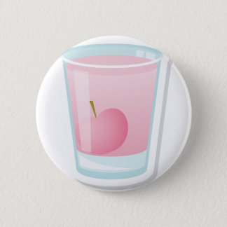 Pink shot with cherry 2 inch round button